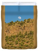 Moonrise Rio Grande Gorge Pilar New Mexico Duvet Cover