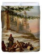 Moose Hunters Duvet Cover
