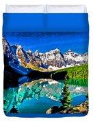 Moraine Lake Duvet Cover