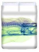 Moray Eel, Gymnothorax Funebris, X-ray Duvet Cover