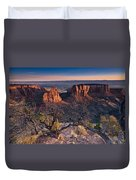 Morning At Colorado National Monument Duvet Cover