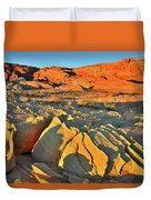 Morning Comes To Valley Of Fire Duvet Cover