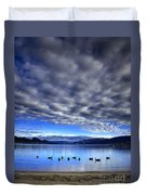 Morning Light On Okanagan Lake Duvet Cover