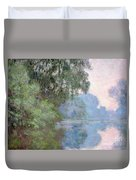 Morning On The Seine Near Giverny 1897 Duvet Cover