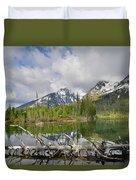 Morning Reflection On String Lake Duvet Cover