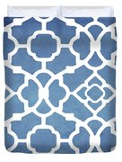 Moroccan Blues Duvet Cover