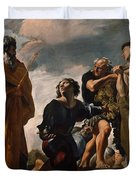 Moses And The Messengers From Canaan Duvet Cover