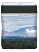 Mosquito Range Mountains In Storm Clouds Duvet Cover