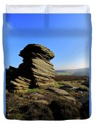 Mother Cap Gritstone Rock Formation, Millstone Edge Duvet Cover