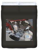 Motorcycle Close Up 1 Duvet Cover