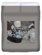 Motorcycle Close Up 2 Duvet Cover