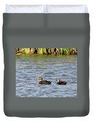 Mottled Ducks Duvet Cover
