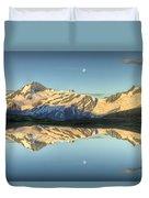 Mount Aspiring Moonrise Over Cascade Duvet Cover