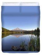 Mount Hood At Trillium Lake Duvet Cover