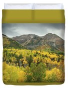 Mount Timpanogos Fall Colors Duvet Cover