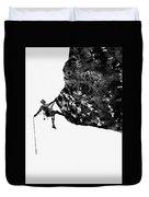 Mountain Climber-black Duvet Cover