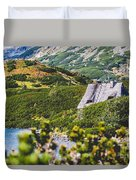 Mountain Lake In 5 Lakes Valley In Tatra Mountains, Poland. Duvet Cover