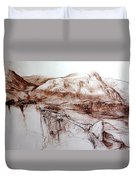 Mountains In Snowdonia Duvet Cover