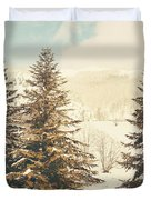 Mountains In The Background Xi Duvet Cover