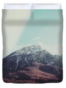 Mountains In The Background Xiii Duvet Cover