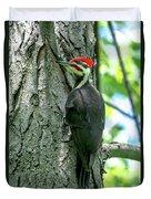 Mr. Pileated Woodpecker Duvet Cover