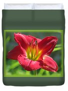 Scarlet Bloom Duvet Cover