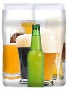 Mug Filled With Beer And Bottles Duvet Cover by Deyan Georgiev