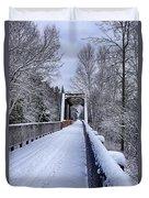 Munger Trail Bridge Duvet Cover