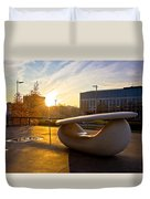 Museum Of Contemporary Art In Zagreb Exterior Detail Duvet Cover