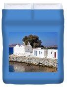 Mykonos Church Duvet Cover
