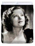 Myrna Loy, Vintage Actress Duvet Cover