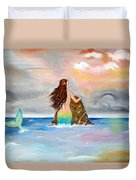 Mysteen The Mystical Queen Of The Sea Duvet Cover