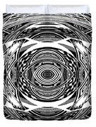 Mystical Eye - Abstract Black And White Graphic Drawing Duvet Cover