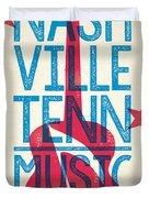 Nashville Poster - Tennessee Duvet Cover by Jim Zahniser