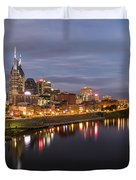 Nashville Tennessee Skyline Sunrise  Duvet Cover