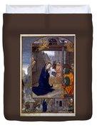 Nativity With Shepherds Duvet Cover