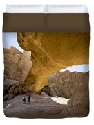 Natural Arch In Wadi Rum Duvet Cover by Michele Burgess