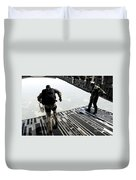 Navy Seals Jump From The Ramp Of A C-17 Duvet Cover