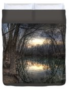 Neath The Willows By The Stream Duvet Cover