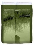 Nesting Box In A Marsh Duvet Cover