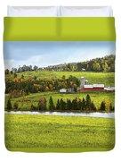 New England Farm Duvet Cover by Betty LaRue