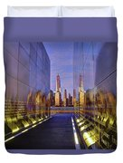 New Jersey Empty Sky 9-11 Memorial Duvet Cover