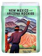 New Mexico And Arizona Rockies Duvet Cover