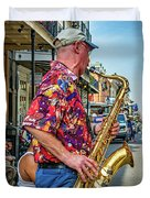New Orleans Jazz Sax Duvet Cover