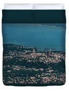 New Rochelle Real Estate Aerial Photo Duvet Cover