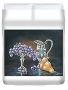 Fruit N Silver Duvet Cover