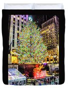New York City Christmas Tree Duvet Cover