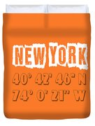 New York Coordinates Duvet Cover
