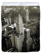 New York Woolworth Building - Vintage Photo Art Print Duvet Cover