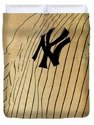 New York Yankees Baseball Team Vintage Card Duvet Cover